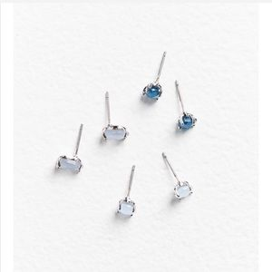 Urban moonstone post earring set